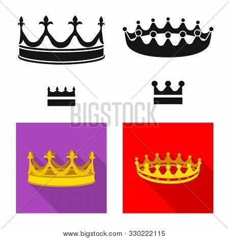 Vector Illustration Of Medieval And Nobility Sign. Set Of Medieval And Monarchy Stock Symbol For Web