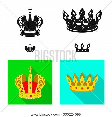 Isolated Object Of Medieval And Nobility Icon. Collection Of Medieval And Monarchy Vector Icon For S