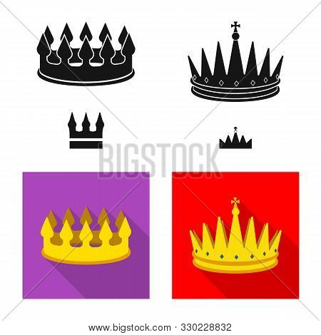 Vector Design Of Medieval And Nobility Sign. Collection Of Medieval And Monarchy Stock Vector Illust