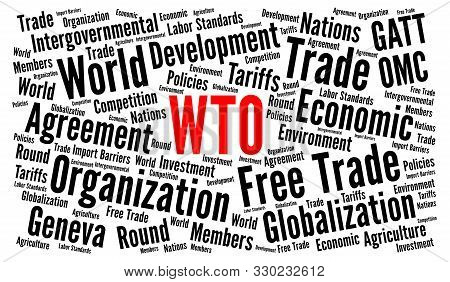 Wto, World Trade Organization Word Cloud Concept