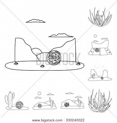Vector Illustration Of Wilderness And Texas Logo. Collection Of Wilderness And Pasture Vector Icon F