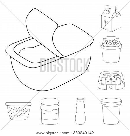 Vector Illustration Of Calcium And Food Logo. Set Of Calcium And Product Vector Icon For Stock.