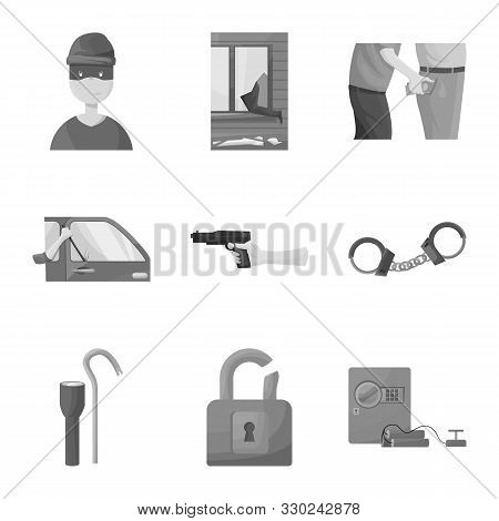 Vector Illustration Of Pickpocket And Fraud Symbol. Collection Of Pickpocket And Steal Stock Symbol