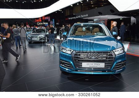 Geneva, Switzerland - March 05, 2019: Audi Q5 55 Tfsi E Quattro - Geneva International Motor Show 20