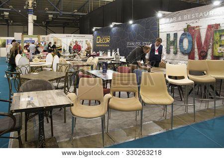 Kyiv Ukraine 18 October 2019: Modern Furniture Home Decor Store.