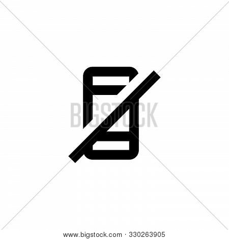 Mobile Banned Icon. No Cellphone Sign. Network None Symbol