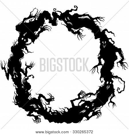Illustration Fantasy Grotesque Ghost Spooky Halloween Frame