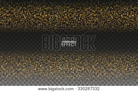 Magic Gold Glitter Star Dust Trail Sparkling Particles Wave Abstract Background. Gold Glittering On