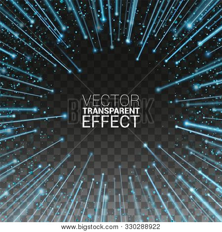 High Speed. Abstract Explosion. Vector Illustration Transparent Background