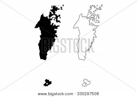 Musandam Governorate (sultanate Of Oman, Governorates Of Oman) Map Vector Illustration, Scribble Ske