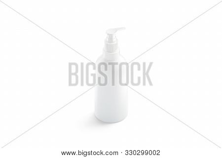 Blank White Foam Pump Bottle With Dispenser Mockup, Isolated, 3d Rendering. Empty Shampoo Or Lotion