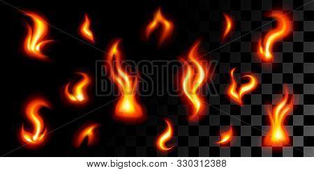 The Big Set Of 14 Fires On Black-transparent