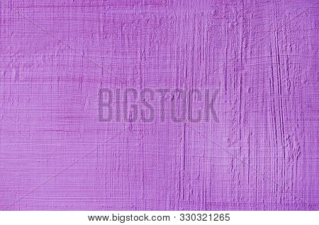 Purple Textured Putty Close-up. Vintage Or Grunge Background Texture Venetian Stucco In The Pattern