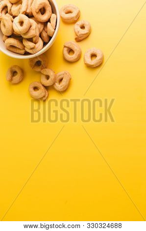 Taralli - A Traditional Italian Appetizer Similar To Drying Or Bagels, Typical For The Cuisine Of Si