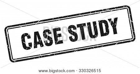Case Study Stamp. Case Study Square Grunge Sign. Case Study