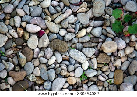 Stone Wall Texture Photo, Stone Background , Stone Floor Texture, White Stone Floor In The Garden, W