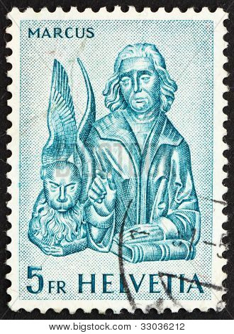 Postage stamp Switzerland 1961 St. Mathew and Winged Lion, St. O