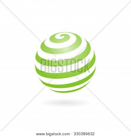 Design Concept Of Globe Ball With A Circle Of Ribbon. Abstract Ball For Print, App, Clip Art, Web Ic