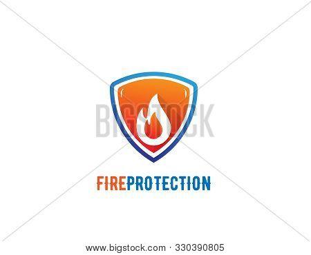Fire Protection Logo Design- White Background Illustartion Design