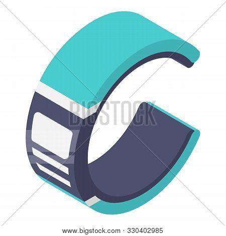 Futuristic Smart Bracelet Icon. Isometric Of Futuristic Smart Bracelet Vector Icon For Web Design Is