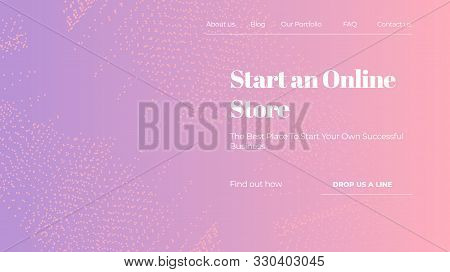 Abstract Vector Colorful Gradient Landing Page Template
