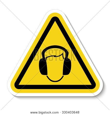 Symbol Wear Ear Muff Sign Isolate On White Background,vector Illustration Eps.10