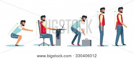 Posture And Healthy Spine, Correct Sitting At Desk, Ergonomics Advice