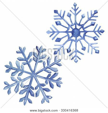 Christmas Winter Holiday Symbol Isolated. Watercolor Background Illustration Set. Isolated Winter Il
