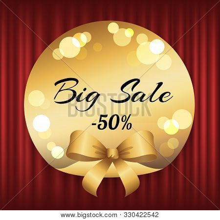 Hot Price, Big Sale, Best Offer Vector, Isolated Offer Badge With Proposition Flat Style. Red Curtai