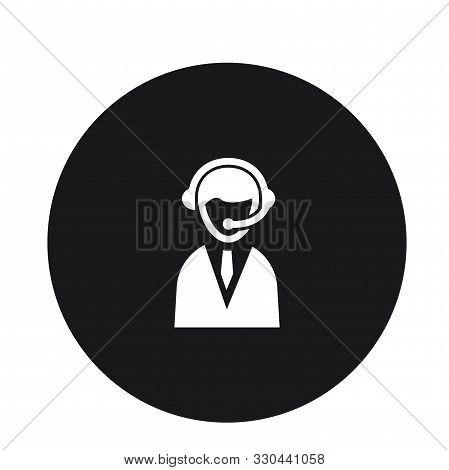 Customer Service Representative Icon Vector Illustration For Web