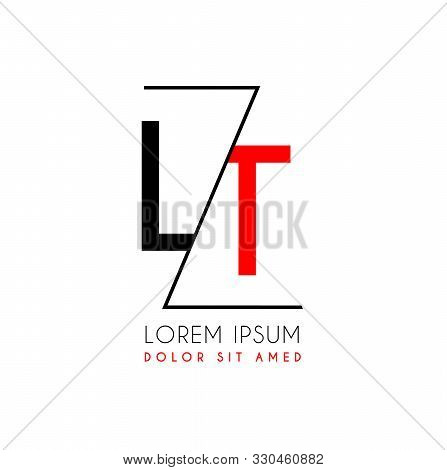 Lt Logo Letter Separated By A Black Zigzag Line