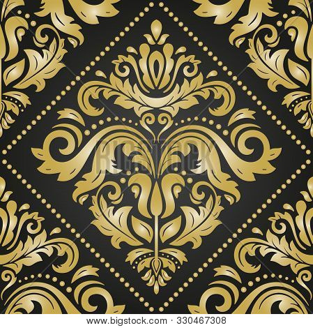 Orient Vector Classic Pattern. Seamless Abstract Background With Vintage Elements. Orient Background