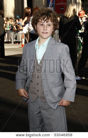 LOS ANGELES - JUNE 15: Nolan Gould at the premiere of Warner Bros. Pictures' 'Green Lantern' held at Grauman's Chinese Theatre in Los Angeles,CA on June 15, 2011.