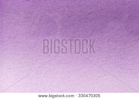 Abstract Art Background Light Purple And Lilac Colors. Watercolor Painting On Canvas With Soft Viole