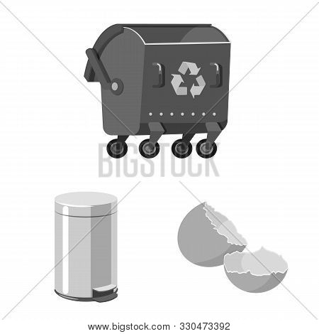 Isolated Object Of Dump And Sort Logo. Collection Of Dump And Junk Vector Icon For Stock.