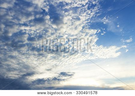 Blue Sky And White Clouds Texture Background