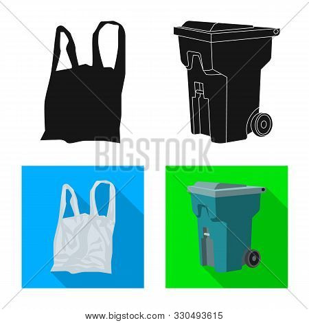 Vector Illustration Of Refuse And Junk Logo. Collection Of Refuse And Waste Stock Symbol For Web.