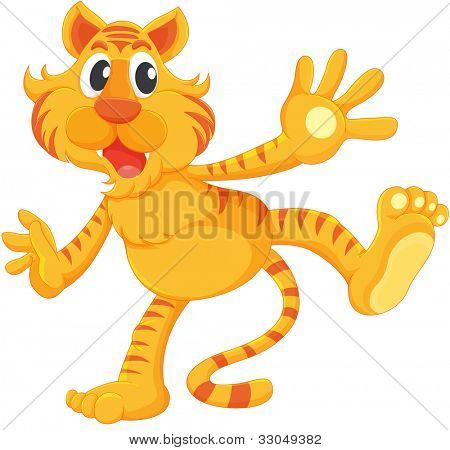 Isolated tiger on a white background - EPS VECTOR format also available in my portfolio.