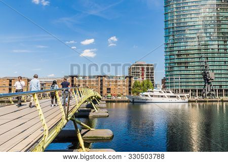 London. 23 May 2019. North Dock In Canary Wharf In London