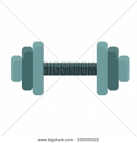 Dumbbell Athletic Active Gym Vector Icon Shape. Muscular Biceps Sporty Fitness Workout. Exercise Met