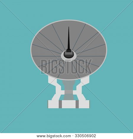 Satellite Antenna Broadcast Space Tv Illustration Vector Icon. Sign Global Web Business Information