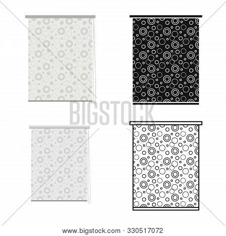 Vector Design Of Jalousie And Aluminum Icon. Web Element Of Jalousie And Plastic Stock Symbol For We