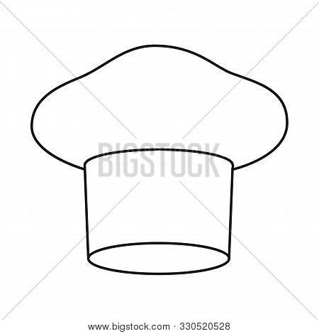 Vector Design Of Confectioner And Hat Logo. Set Of Confectioner And Chef Stock Vector Illustration.