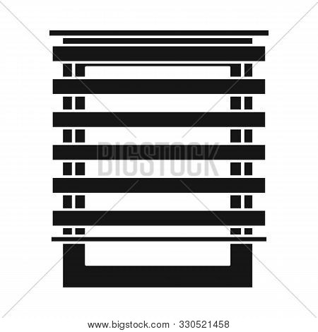 Isolated Object Of Jalousie And Roll Icon. Graphic Of Jalousie And Wooden Stock Symbol For Web.