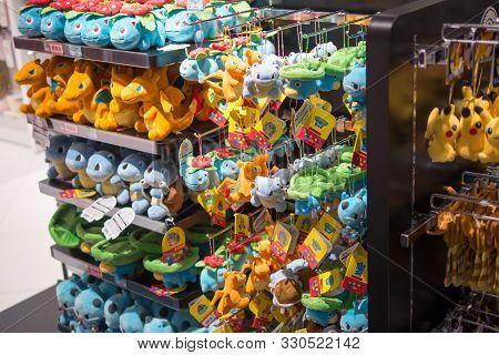 Dolls In Pokemon Store, Kyoto, Japan, 3 August 2019