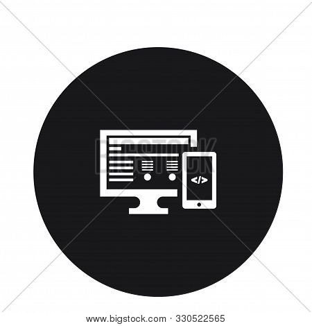 Adaptive Computer Mobile Pc Responsive Icon For Web