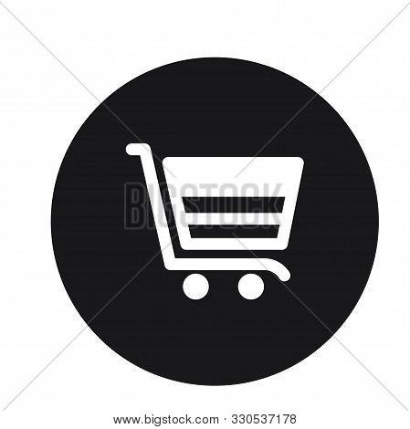 Cart Plain Shopping Trolly Icon Vector Illustration For Web