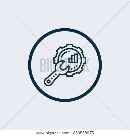 Optimization Icon Isolated On White Background From Tech Support Collection. Optimization Icon Trend