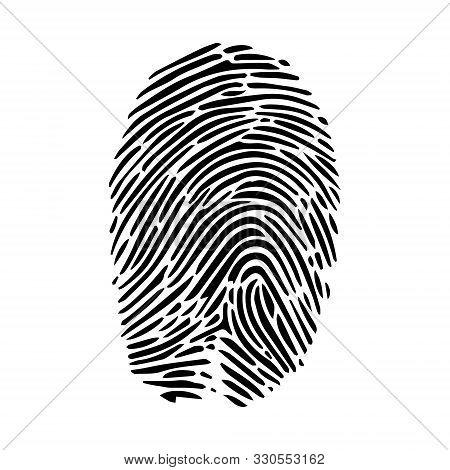 Human Fingerprint  Finger Print Or Biometric Scan Line Art Vector Icon For Apps And Websites.
