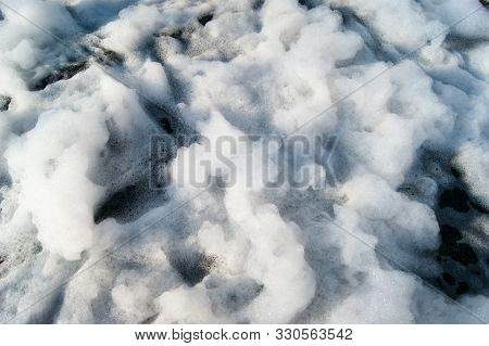 Background, Texture - White Air Foam - Foam Party Outdoors.
